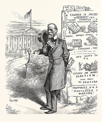 Height Of English Ambition, Engraving 1880, Us, Usa, America Art Print by American School