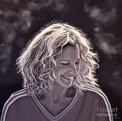 Sepia Painting - Heike Henkel by Paul Meijering