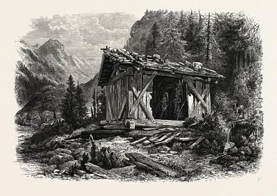 Heiligen Drei Brunnen, Austria Print by Austrian School