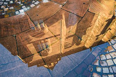 Photograph - Heiliggeistkirche Church Heidelberg Water Reflection by Matthias Hauser