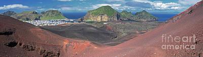Photograph - Heimaey From Eldfell Volcano Iceland 1 by Rudi Prott