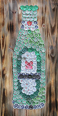 Selected Mixed Media - Heineken Bottle by Kay Galloway