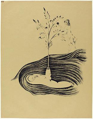 Tr Drawing - Heinrich Hoerle, Freundlicher Träum Friendly Dreams by Quint Lox