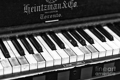 Photograph - Heintzman Piano by John Rizzuto