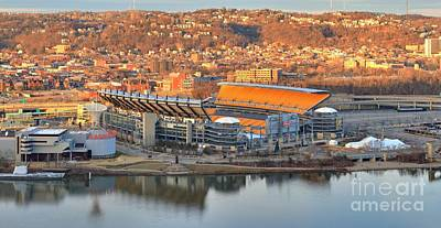 Photograph - Heinz Field Along The Ohio by Adam Jewell