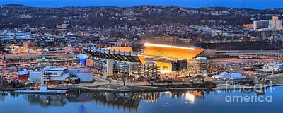 Photograph - Heinz Field Evening Reflections by Adam Jewell