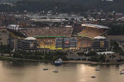 Airplane Paintings - Heinz Field by Jennifer Grover