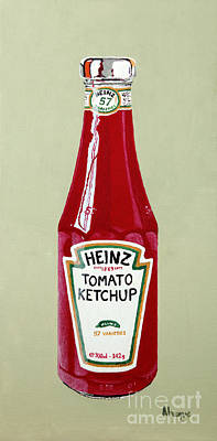 Fries Painting - Heinz Ketchup by Alacoque Doyle