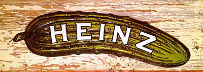 Photograph - Heinz Pickle Sign by Norma Brock