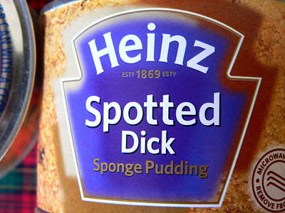 Spotted Dick Photograph - Heinz Spotted Dick Pudding by Jeff Lowe