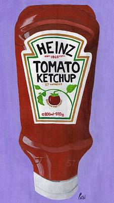 Painting - Heinz Tomato Ketchup by Bav Patel