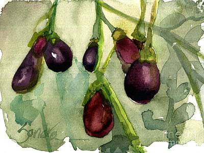 Heirloom Eggplant Art Print by Sandra Stone
