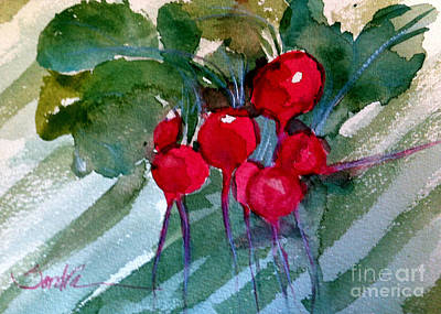 Heirloom Radishes Art Print by Sandra Stone