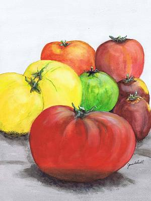 Painting - Heirloom Tomatoes by June Holwell