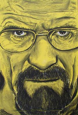 Hartwell Drawing - Heisenberg - Breaking Bad by Eric Dee