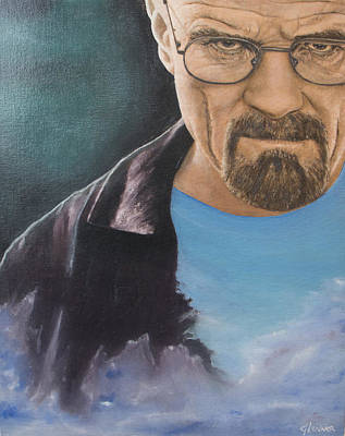 Crystal Meth Painting - Heisenberg by Glenner Art