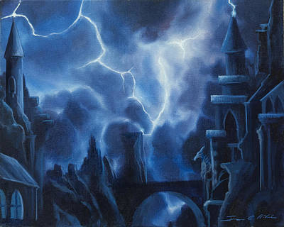 Sorcerer Painting - Heisenburg's Castle by James Christopher Hill