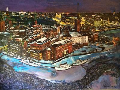 Painting - Hej Stockholm by Belinda Low