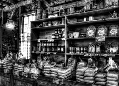 Photograph - Helen Georgia Grist Mill In Black And White by Greg and Chrystal Mimbs