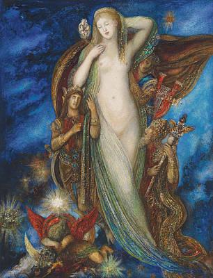 Helen Glorified Print by Gustave Moreau