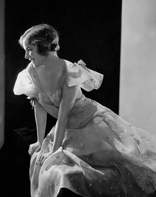 1930s Fashion Photograph - Helen Hayes Wearing A Organdy Dress by Edward Steichen