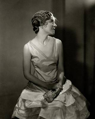 1920s Fashion Photograph - Helen Hayes Wearing A Taffeta Dress by Edward Steichen