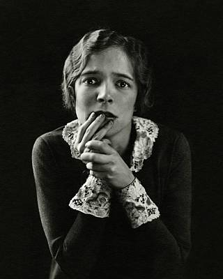 Lace Photograph - Helen Hayes Wearing Lace Cuffs by Edward Steichen
