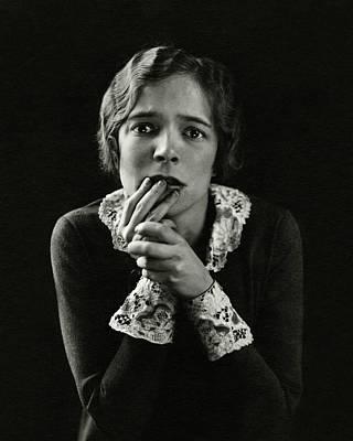 Helen Hayes Wearing Lace Cuffs Art Print by Edward Steichen