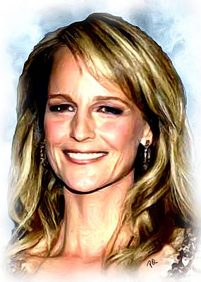 Blockbuster Painting - Helen Hunt by Paul Quarry