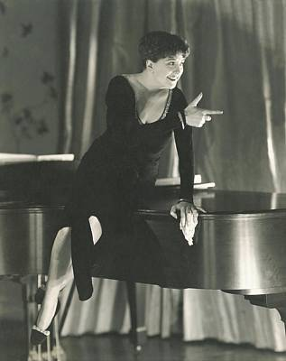 Piano Photograph - Helen Morgan Pointing by Edward Steichen