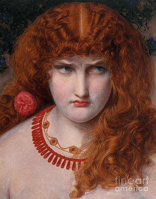 Abduction Painting - Helen Of Troy by Anthony Frederick Augustus Sandys