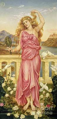 Dove Painting - Helen Of Troy by Evelyn De Morgan