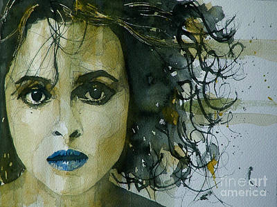 Painting - Helena Bonham Carter by Paul Lovering