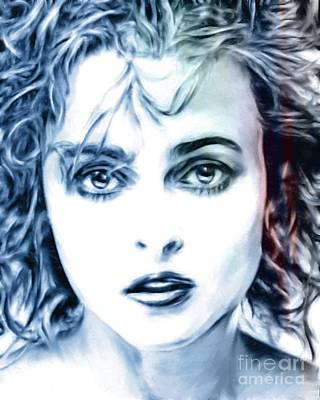Mixed Media - Helena Bonham-carter by Wu Wei