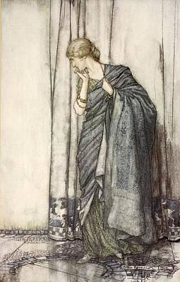 Helena, Illustration From Midsummer Print by Arthur Rackham