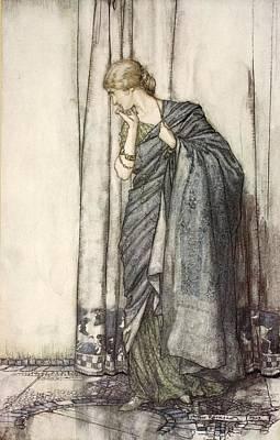 Drawing - Helena, Illustration From Midsummer by Arthur Rackham