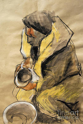 Painting - Helene #10 - Figure Series by Mona Edulesco