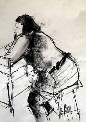 Faces Drawing - Helene #2 - Figure Series by Mona Edulesco