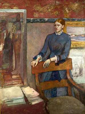 Helene Painting - Helene Rouart In Her Fathers Study by Edgar Degas