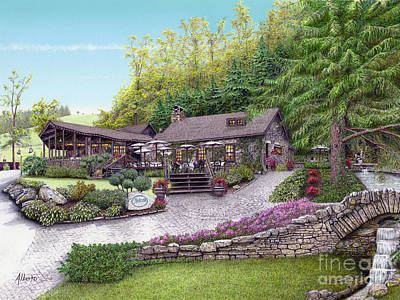 Painting - Helen's Restaurant At Seven Springs by Albert Puskaric