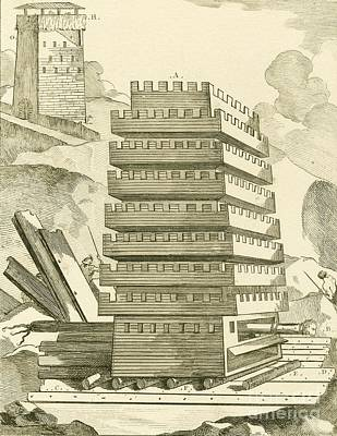 Helepolis Siege Tower, 305 Bc Art Print