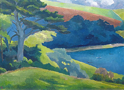 Cornish Wall Art - Photograph - Helford Passage, Cornwall Oil On Canvas by Cristiana Angelini