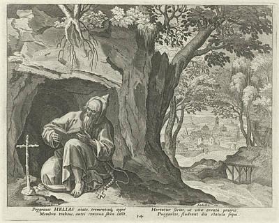 Helias The Hermit, Johann Sadeler I, Raphal Sadeler Art Print