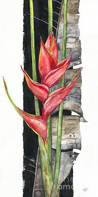 Flower Painting - Heliconia 01 Elena Yakubovich by Elena Yakubovich
