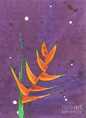 Painting - Heliconia by Billinda Brandli DeVillez