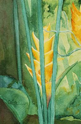 Painting - Heliconia by Diane Cutter