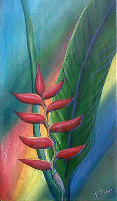 Painting - Heliconia by Ross Daniel