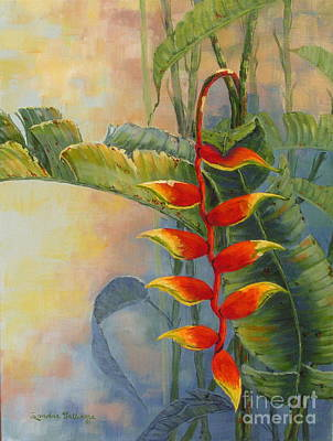 Sandra Williams Painting - Heliconia by Sandra Williams