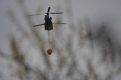 Photograph - Helicopter Fire Intervention 1 by SC Heffner