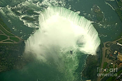 Photograph - Helicopter Flight Over Falls by Brenda Kean